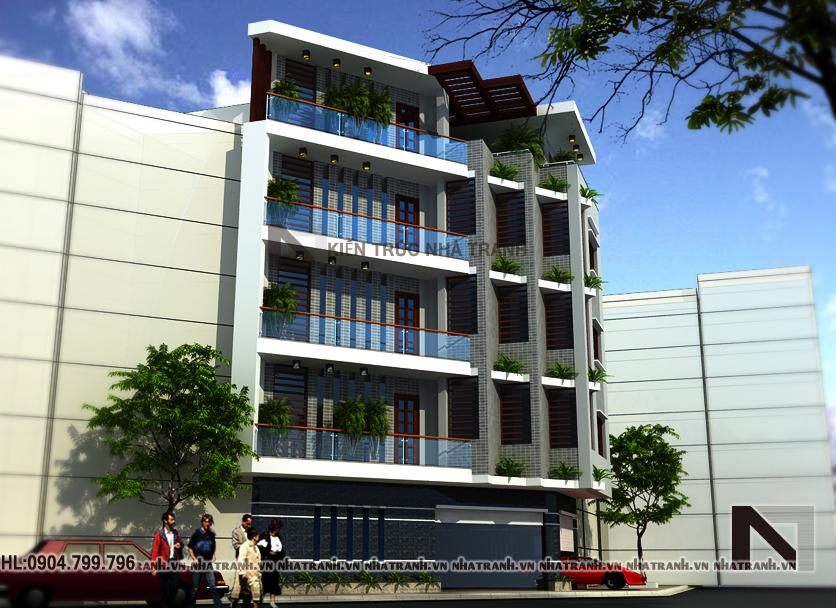 nhà lô góc đẹp 5 tầng phong cách hiện đại-pc201