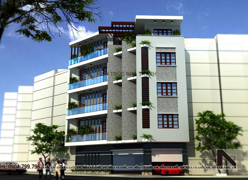 nhà lô góc đẹp 5 tầng phong cách hiện đại-pc202