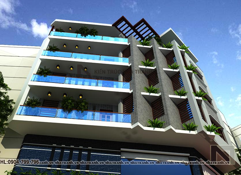 nhà lô góc đẹp 5 tầng phong cách hiện đại-pc203