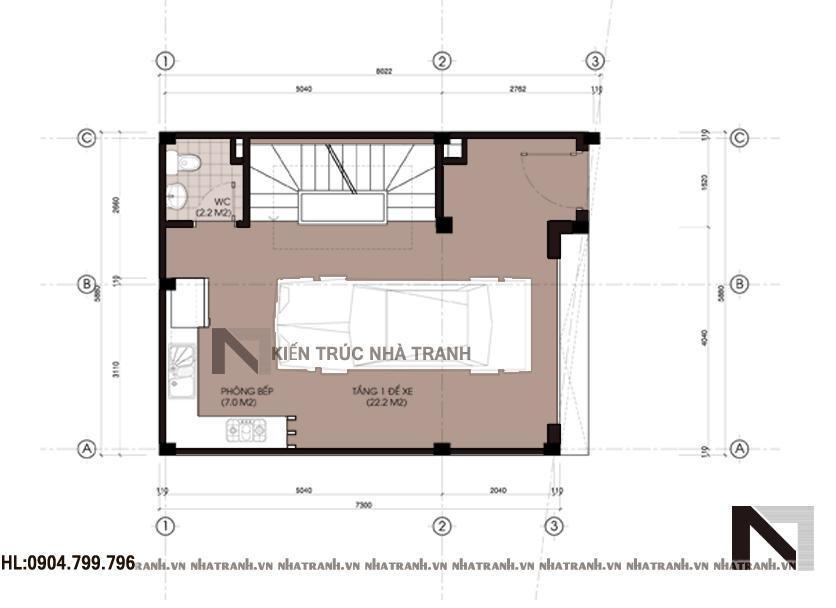 Mẫu nhà đẹp 5 tầng phong cách hiện đại