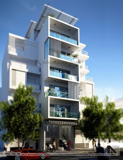 mẫu nhà phố 7 tầng phong cách hiện đại
