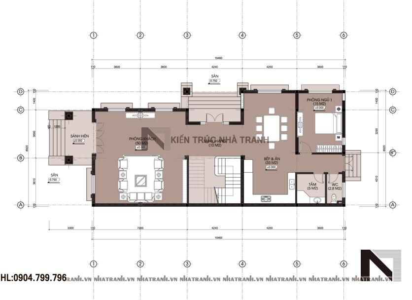 Ảnh: Mặt bằng quy hoạch tổng thể mẫu biệt thự cổ điển 3 tầng NT-B6359