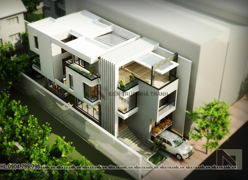 Thiết kế biệt thự 3 tầng phong cách hiện đại