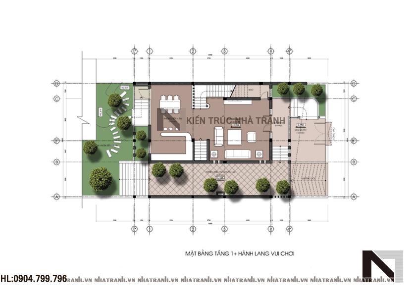 Mặt bằng quy hoạch tổng thể biệt thự phố hiện đại mặt tiền 10m
