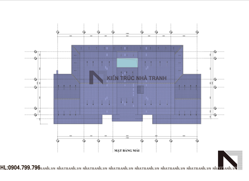 Ảnh: Mặt bằng tầng mái mẫu biệt thự vườn 2 tầng mái ngói phong cách hiện đại NT-B6352
