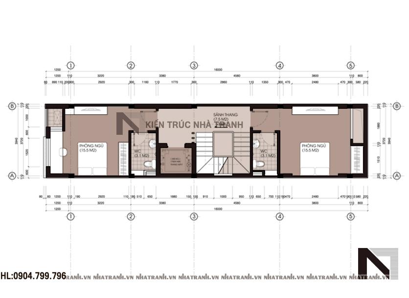 Mẫu nhà 5 tầng đẹp phong cách hiện đại