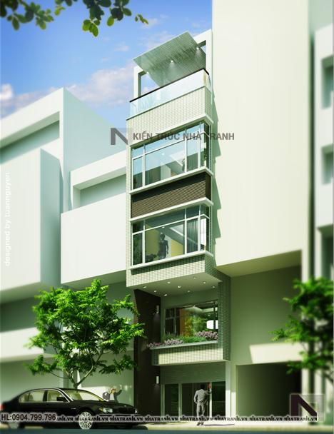 Mẫu nhà ống 5 tầng đẹp phong cách hiện đại