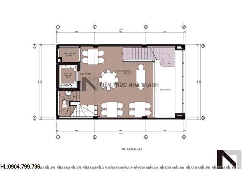 Thiết kế nhà lô 6 tầng phong cách hiện đại-mbtlung
