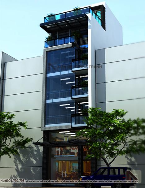 Thiết kế nhà lô 6 tầng phong cách hiện đại-ha-noi-pc01