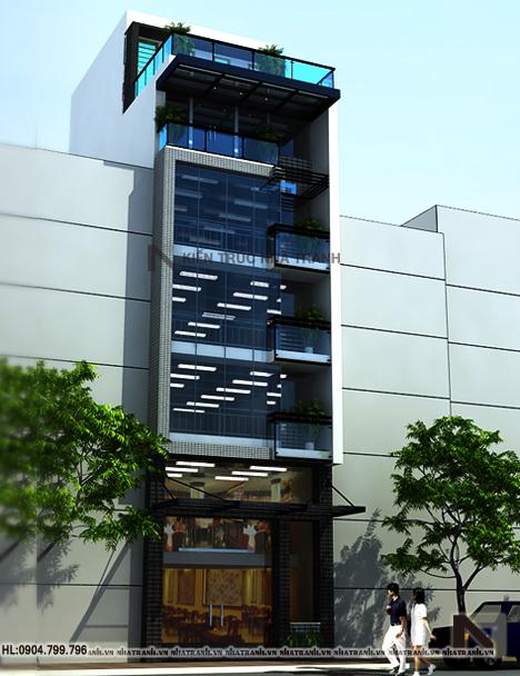 Thiết kế nhà lô 6 tầng phong cách hiện đại-pc02