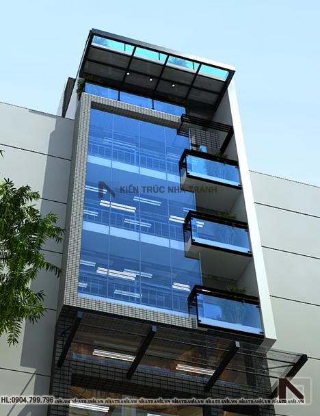 Thiết kế nhà lô 6 tầng phong cách hiện đại-pctt