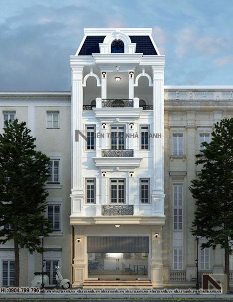 Mẫu nhà lô phố cổ điển 4 tầng