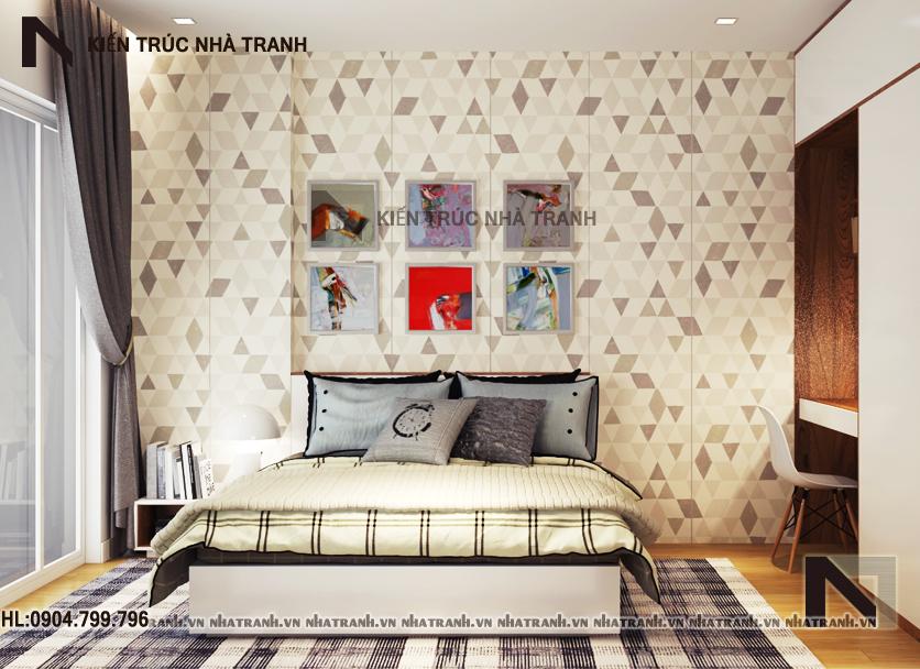 Nội thất phòng ngủ mẫu nhà lô phố cổ điển 4 tầng NT-L3649
