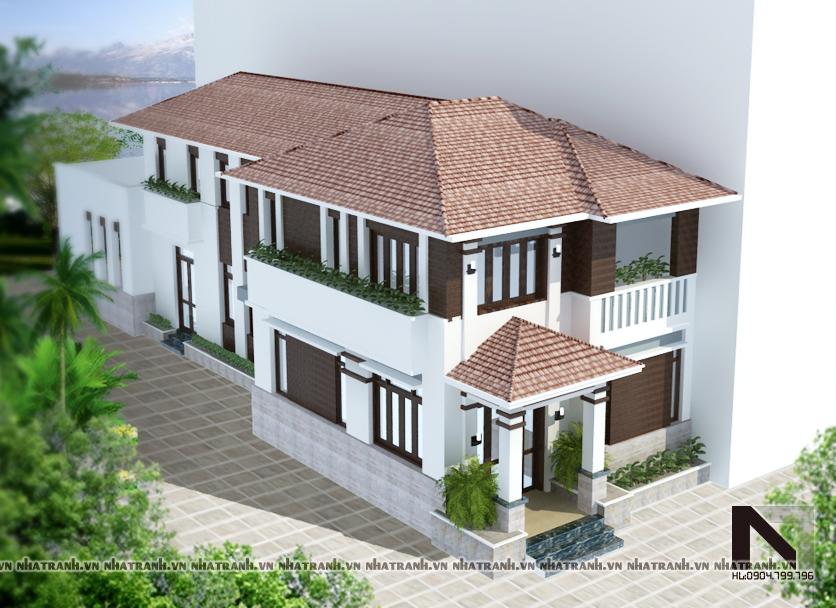 Ảnh: Mẫu thiết kế biệt thự hiện đại 2 tầng NT-B6308