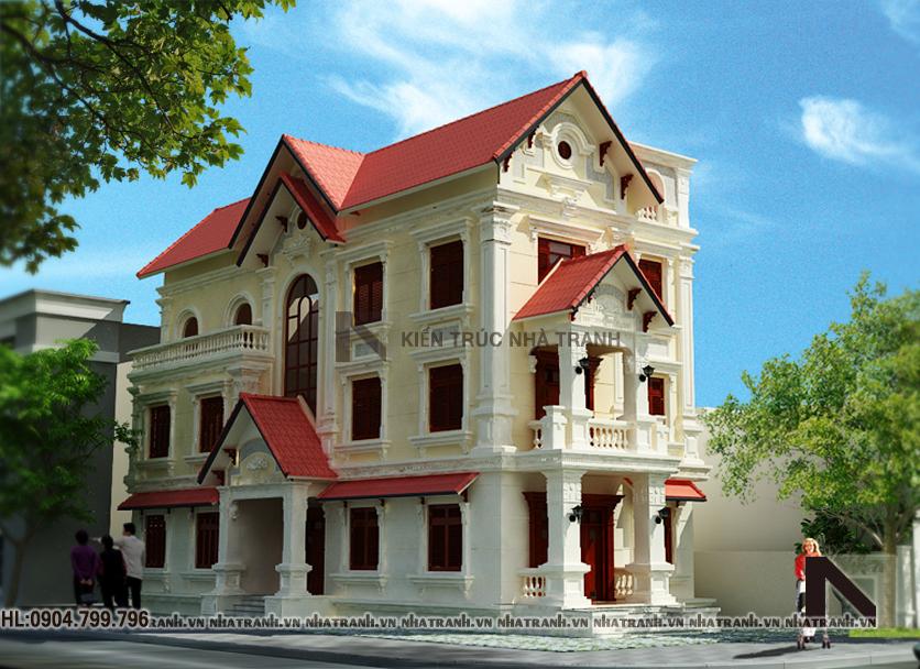 Thiết kế biệt thự Pháp-pc01