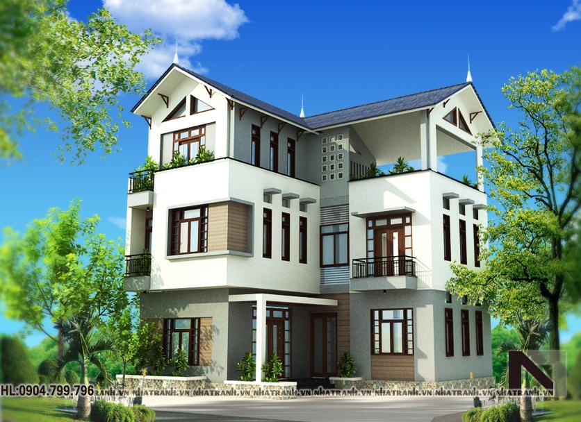 Thiết kế biệt thự tân cổ điển-pc01-1