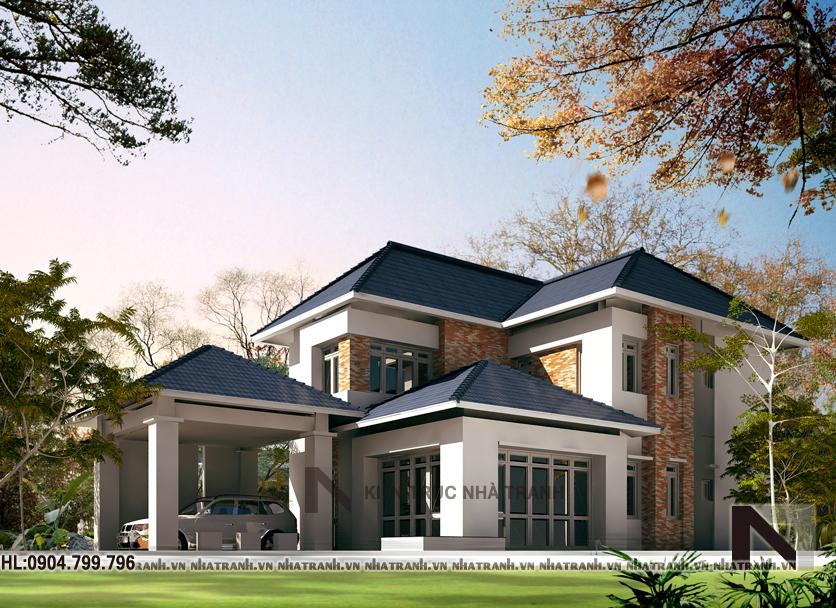 Ảnh: Mẫu thiết kế biệt thự vườn 2 tầng
