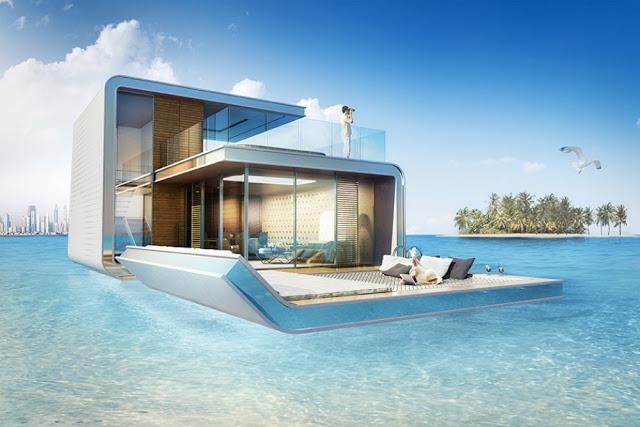 Dự án phức hợp biệt thự nổi trên biển (Seahouse) ở Dubai