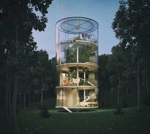 """Ý tưởng """"ngôi nhà thông"""" ở Kazakhstan"""