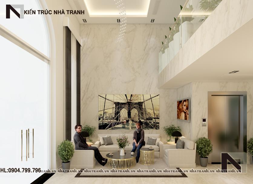 mẫu nhà phố kiến trúc pháp 6 tầng