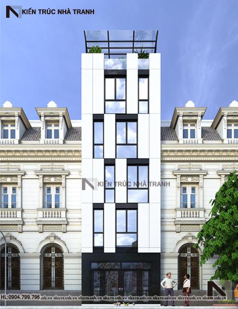 Mẫu nhà phố 6 tầng hiện đại