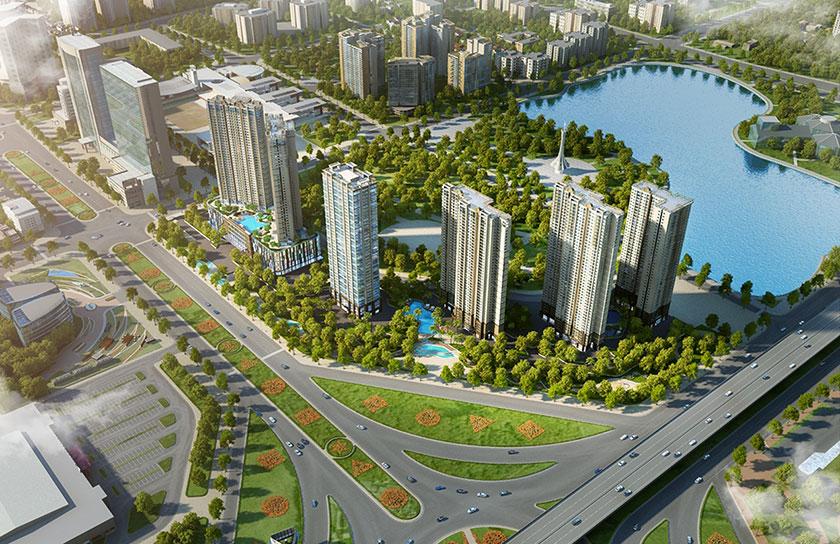 phối cảnh tổng thể dự án vinhomes d'capitale Trần Duy Hưng
