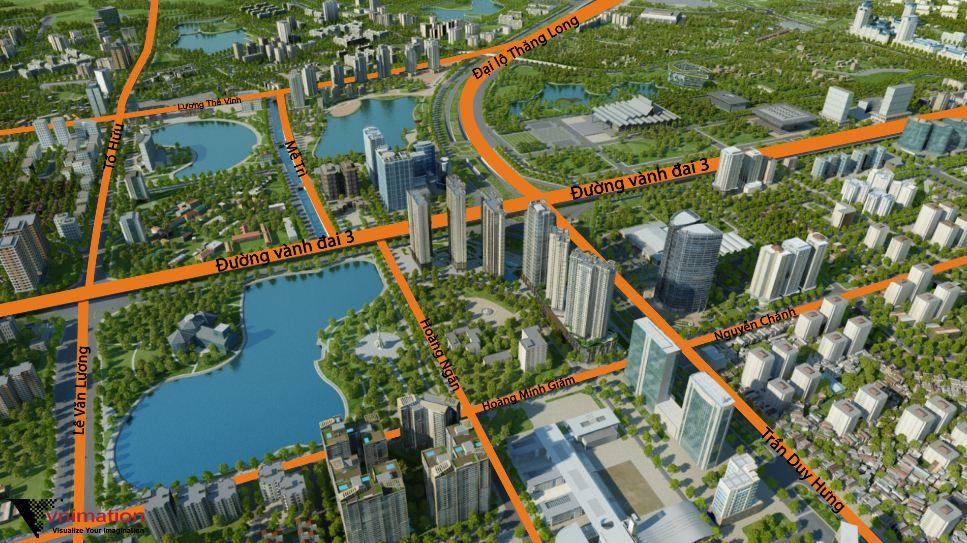 sơ đồ vị trí dự án vinhomes d'capitale Trần Duy Hưng