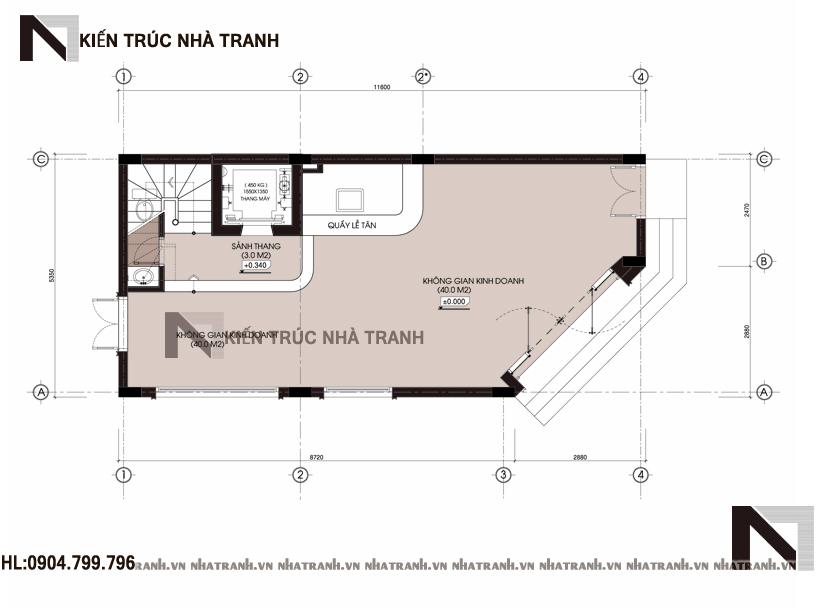 Mặt bằng quy hoạch tổng thể mẫu nhà lô góc hai mặt tiền 5 tầng tân cổ điển NT-L3657