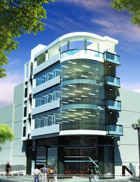 Ảnh: Mẫu thiết kế nhà ở kết hợp kinh doanh NT-L3617