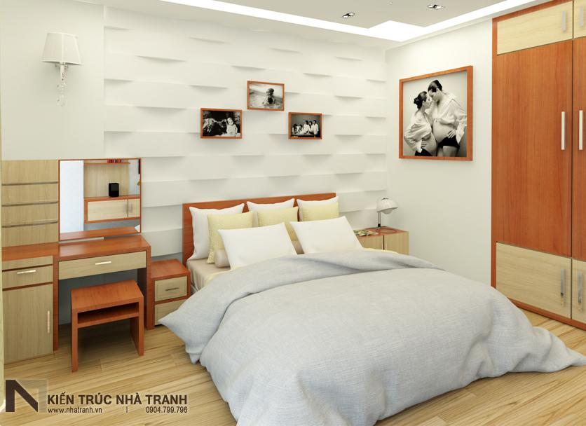 Ảnh: Phối cảnh 01 nội thất phòng ngủ master mẫu nhà phố mặt tiền 4m phong cách hiện đại NT-L3630