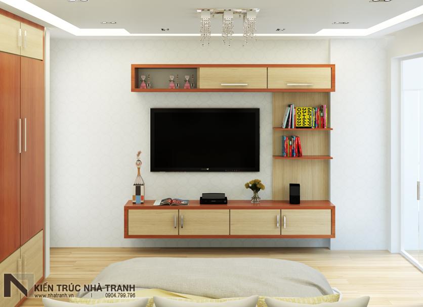 Ảnh: Phối cảnh 04 nội thất phòng ngủ bố mẹ mẫu thiết kế nội thất nhà ống hiện đại NT-NL0051