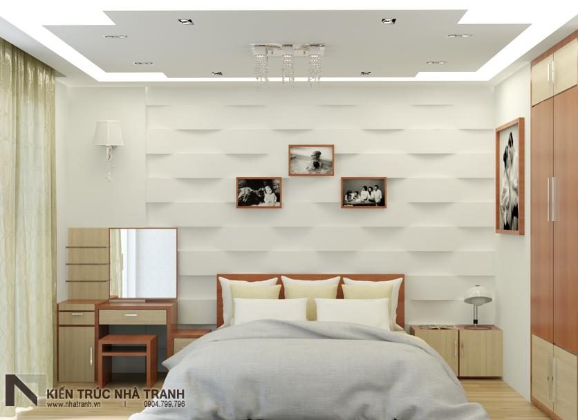 Ảnh: Phối cảnh 03 nội thất phòng ngủ master mẫu nhà phố mặt tiền 4m phong cách hiện đại NT-L3630