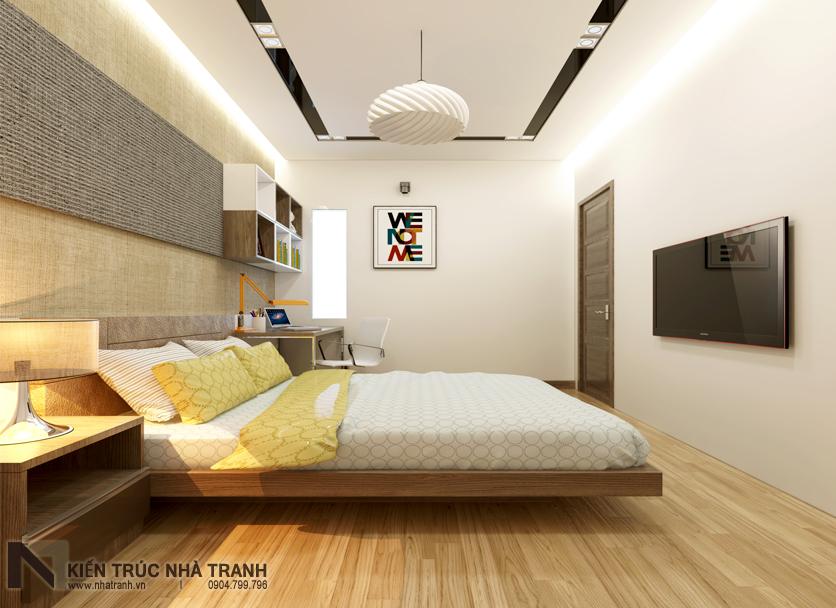 Ảnh: Phối cảnh 02 nội thất phòng ngủ con trai mẫu nhà phố mặt tiền 4m phong cách hiện đại NT-L3630