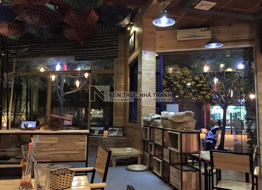 Ảnh: Hình ảnh thi công thực tế 11 không gian nội thất mẫu thiết kế nội thất quán cafe NT-NN0054