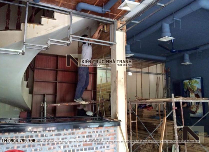 Ảnh: Hình ảnh thi công thực tế 01 không gian nội thất mẫu thiết kế nội thất quán cafe NT-NN0054