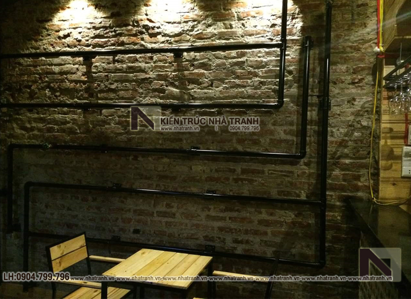Ảnh: Hình ảnh thi công thực tế 03 không gian nội thất mẫu thiết kế nội thất quán cafe NT-NN0054