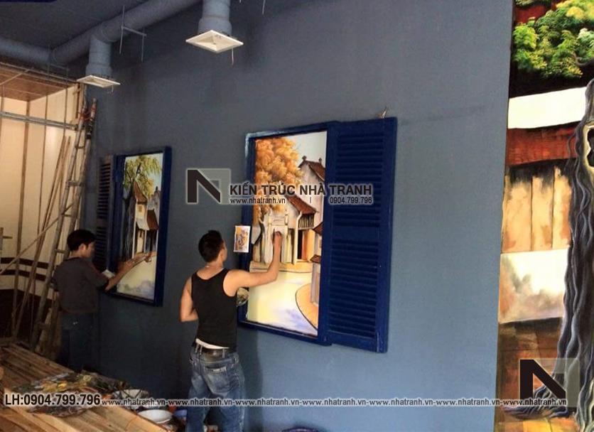 Ảnh: Hình ảnh thi công thực tế 02 không gian nội thất mẫu thiết kế nội thất quán cafe NT-NN0054