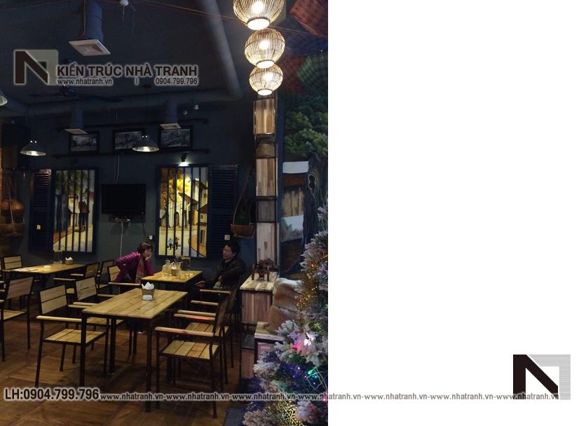 Ảnh: Hình ảnh thi công thực tế 09 không gian nội thất mẫu thiết kế nội thất quán cafe NT-NN0054