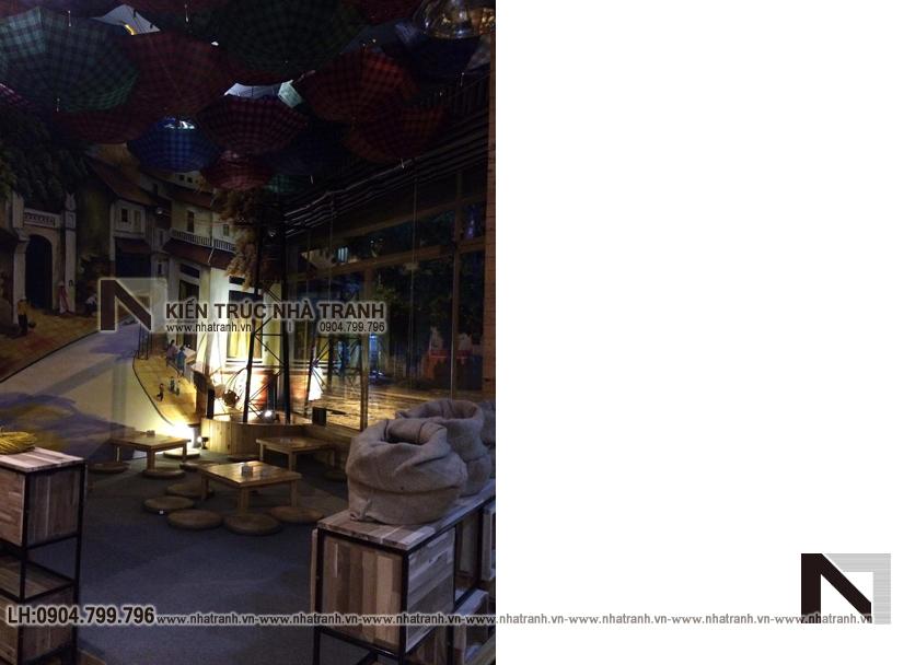 Ảnh: Hình ảnh thi công thực tế 06 không gian nội thất mẫu thiết kế nội thất quán cafe NT-NN0054