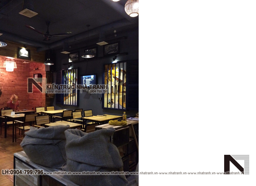 Ảnh: Hình ảnh thi công thực tế 05 không gian nội thất mẫu thiết kế nội thất quán cafe NT-NN0054