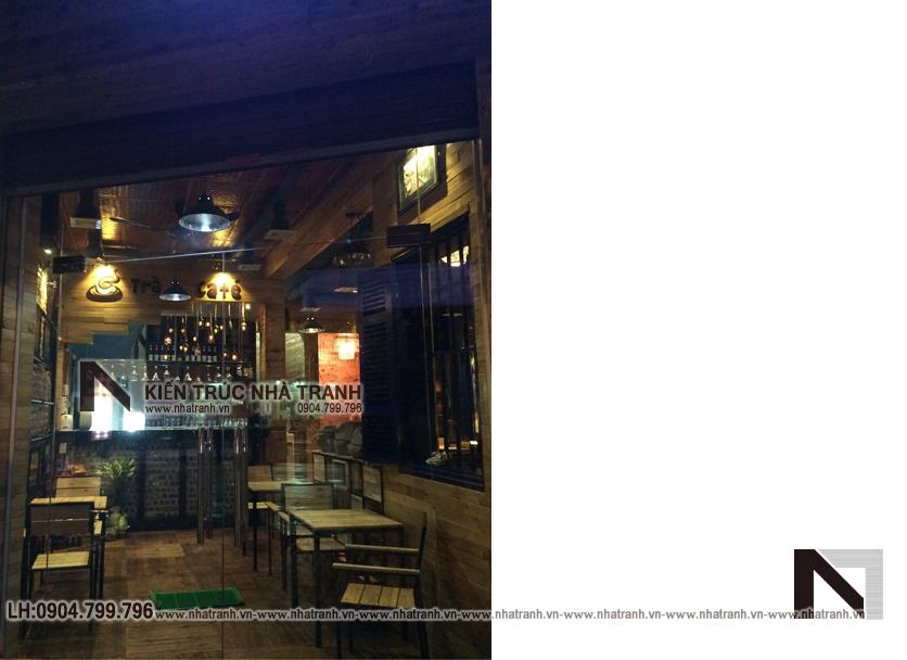 Ảnh: Hình ảnh thi công thực tế 04 không gian nội thất mẫu thiết kế nội thất quán cafe NT-NN0054
