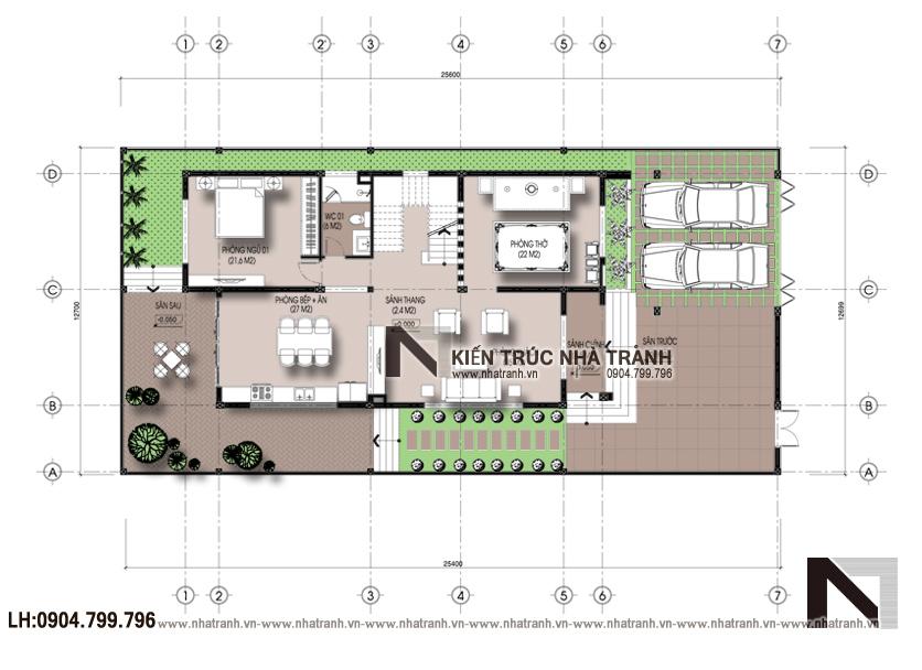 Ảnh: Mặt bằng quy hoạch tổng thể dự án mặt bằng nhà biệt thự 3 tầng hiện đại NT-B6377