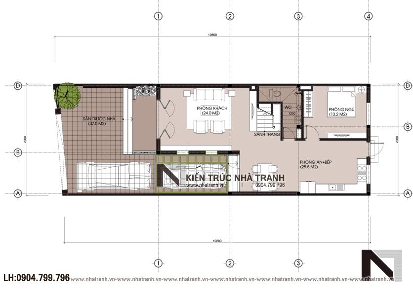Ảnh: Mặt bằng quy hoạch tổng thể giải pháp chống nắng cho nhà hướng tây mẫu biệt thự hướng tây NT-B6379