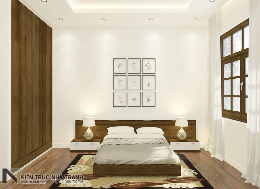 Ảnh: Phối cảnh nội thất phòng ngủ người già 03 mẫu thiết kế nội thất biệt thự hiện đại 3 tầng NT-NB0052