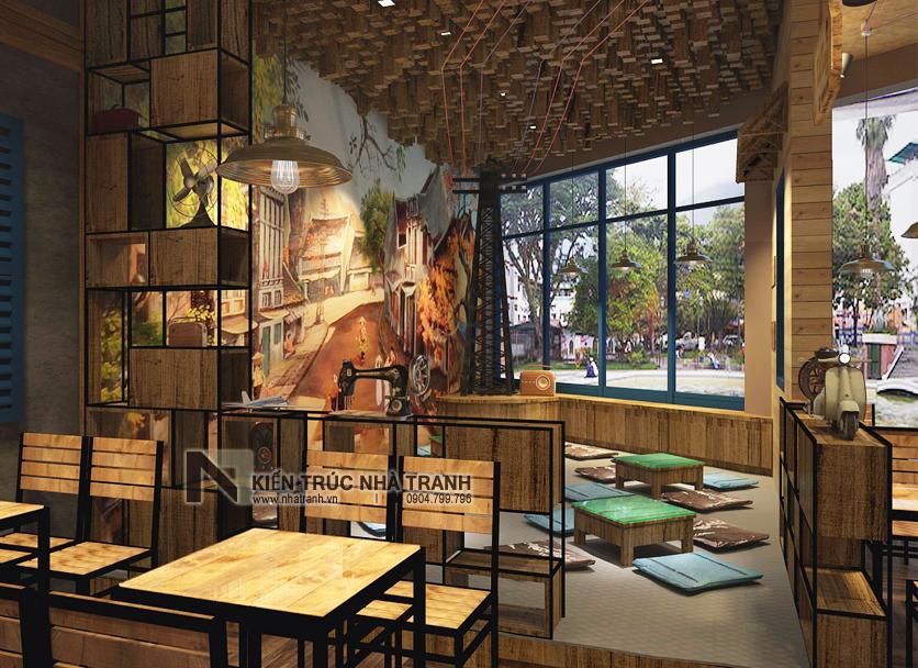 Ảnh: Phối cảnh 04 không gian nội thất mẫu thiết kế nội thất quán cafe NT-NN0054