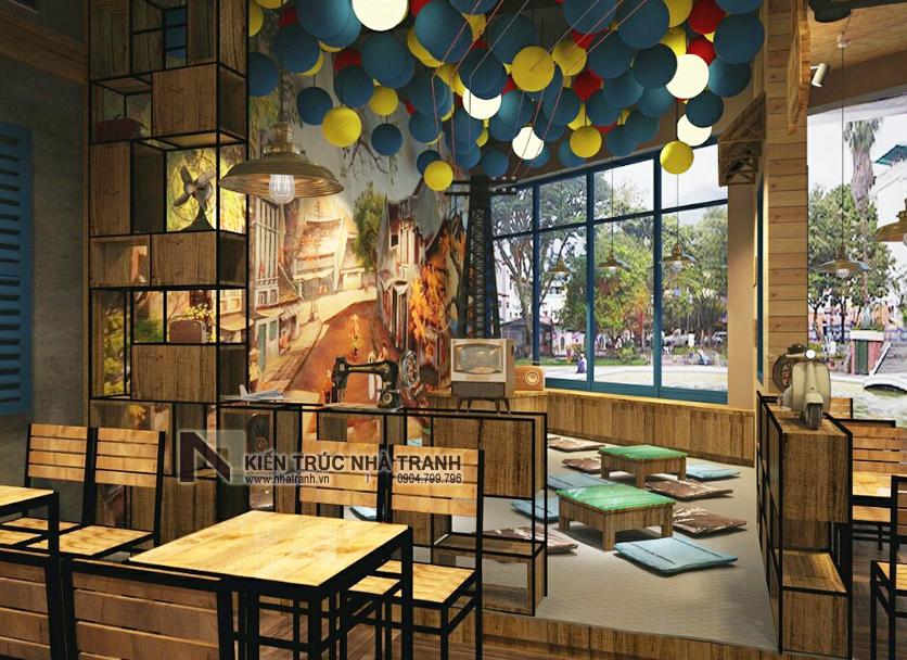 Ảnh: Phối cảnh 06 không gian nội thất mẫu thiết kế nội thất quán cafe NT-NN0054