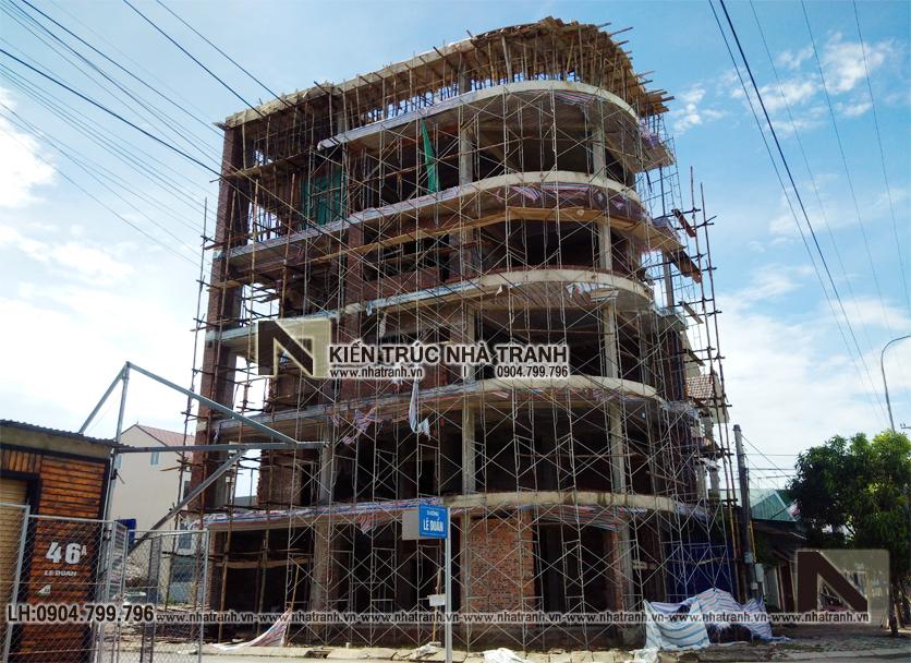Ảnh: Hình ảnh thực tế03 công trình mẫu nhà lô góc hai mặt tiền 6 tầng để ở kết hợp kinh doanh phong cách hiện đại NT-L3663