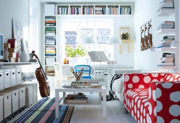 20 ý tưởng nội thất cho phòng khách nhỏ hẹp 10