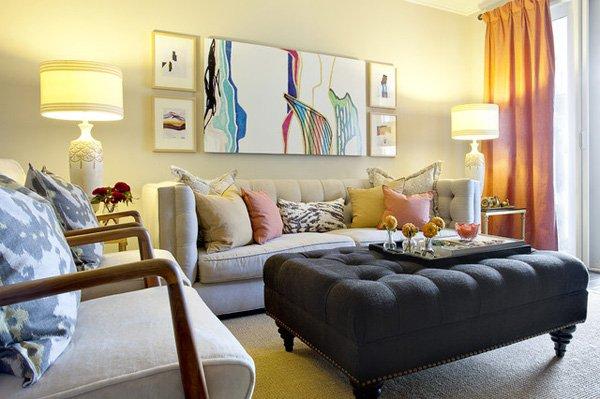 20 ý tưởng nội thất cho phòng khách nhỏ hẹp 7