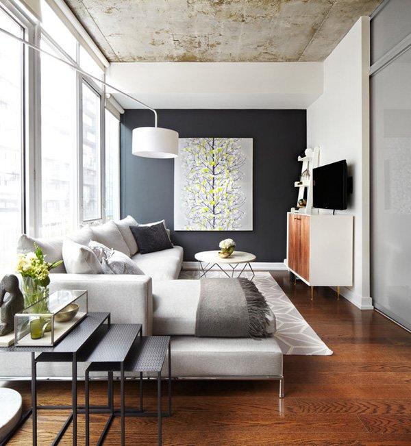 20 ý tưởng nội thất cho phòng khách nhỏ hẹp 9